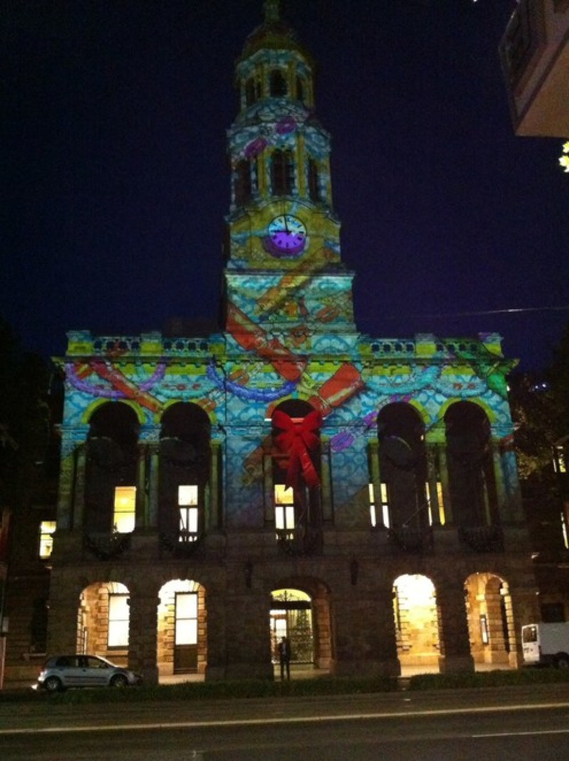 Adelaide Town Hall Christmas Projections
