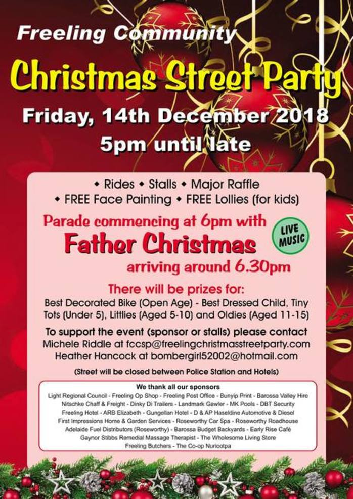 Freeling Community Christmas Street Party 2018