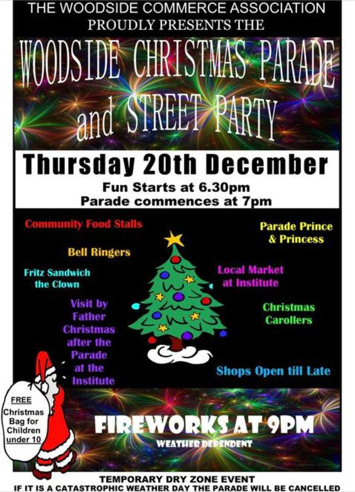 Woodside Christmas Parade and Street Party 2018